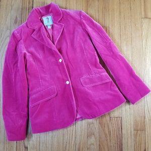 Papo d'Anjo Girls Velvet Blazer Pink 12Y